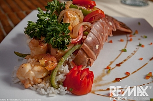 Lobster Tail With Rice