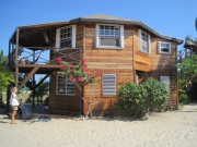 Large Beach Lot in Placencia Village with 2 Houses